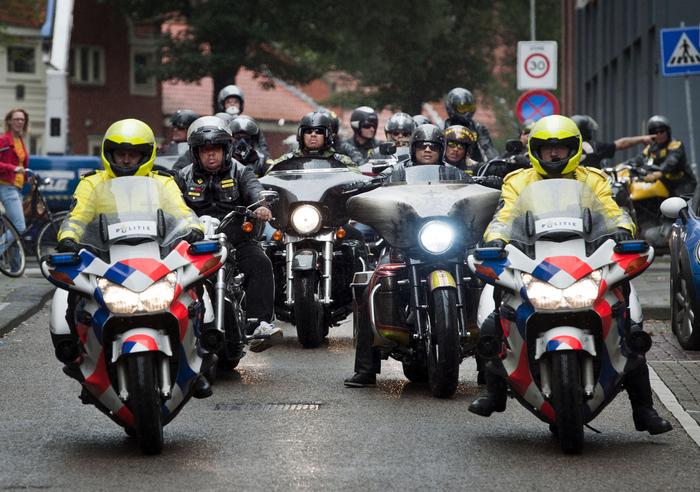Motorclubs protesteren op Harleydag